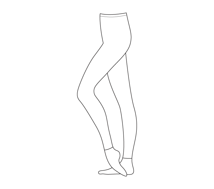 Collant sans pied