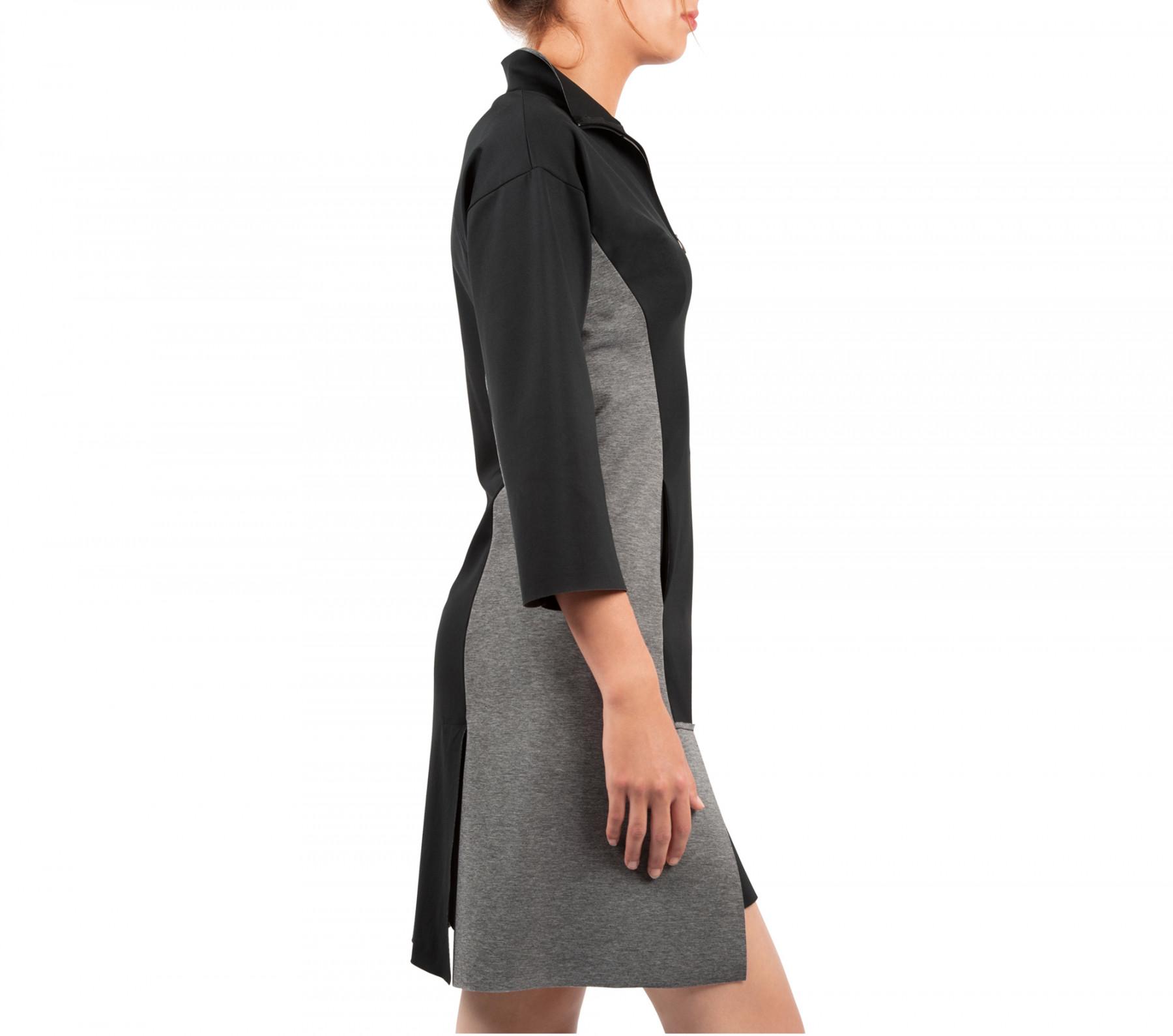 Robe structurée en maille stretch bi face