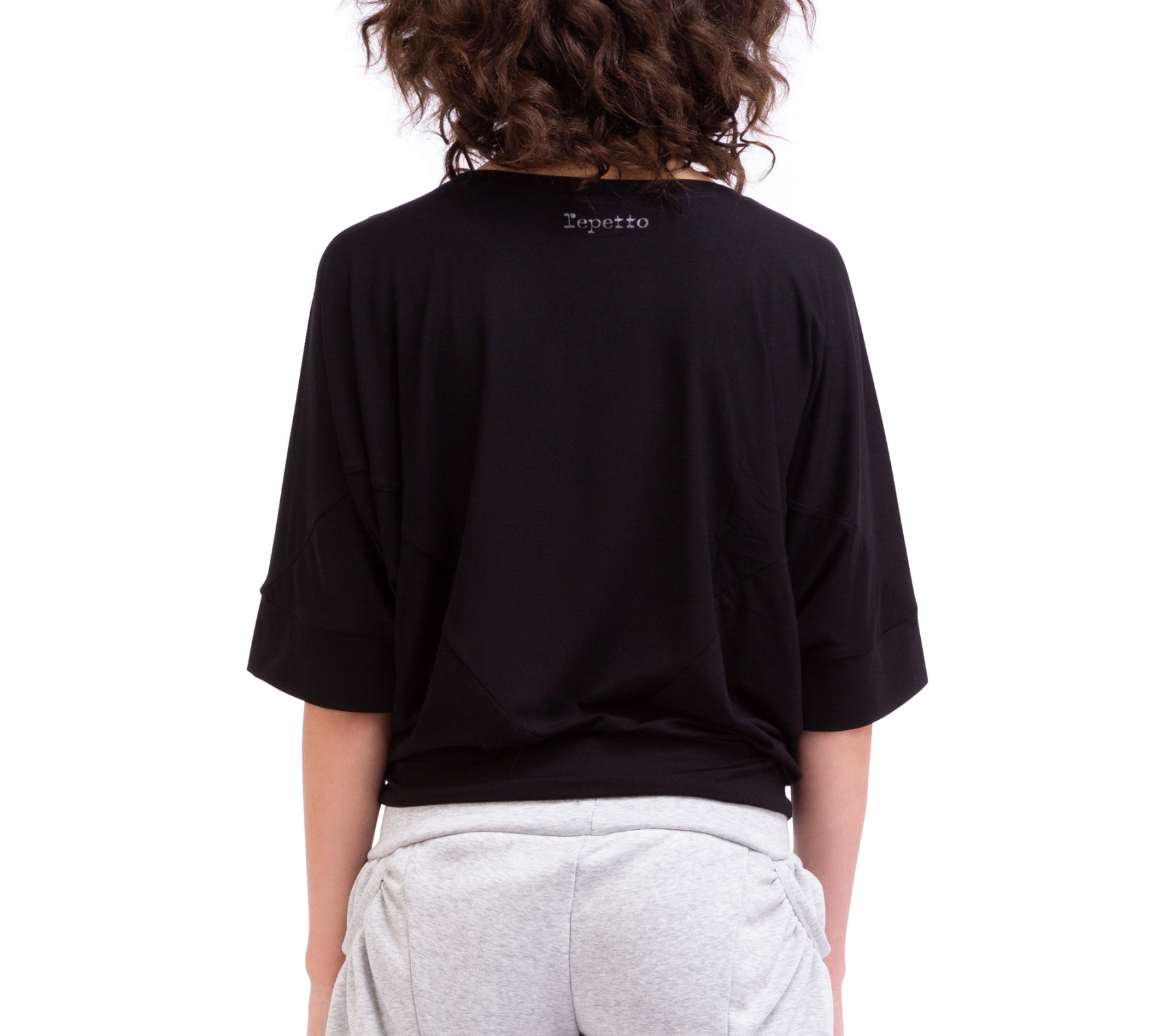Top forme triangle en viscose