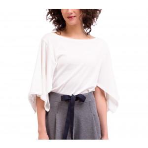 T-shirt kimono en maille côtelée