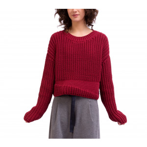 Pull manches longues en maille tricot 3D