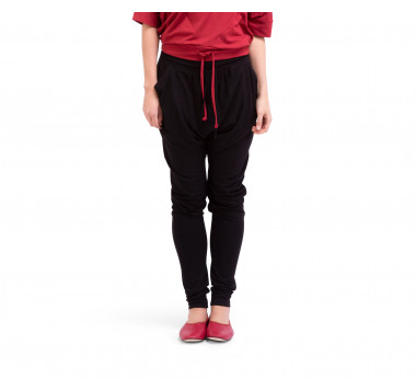 Pantalon forme sarouel en viscose