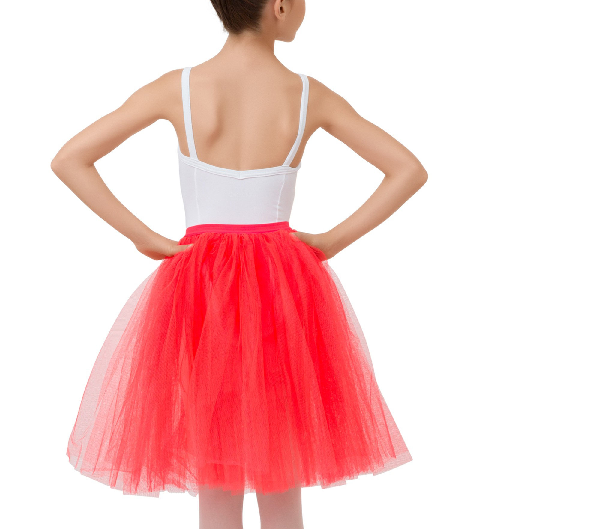 Jupon de tulle long fantaisie fillette