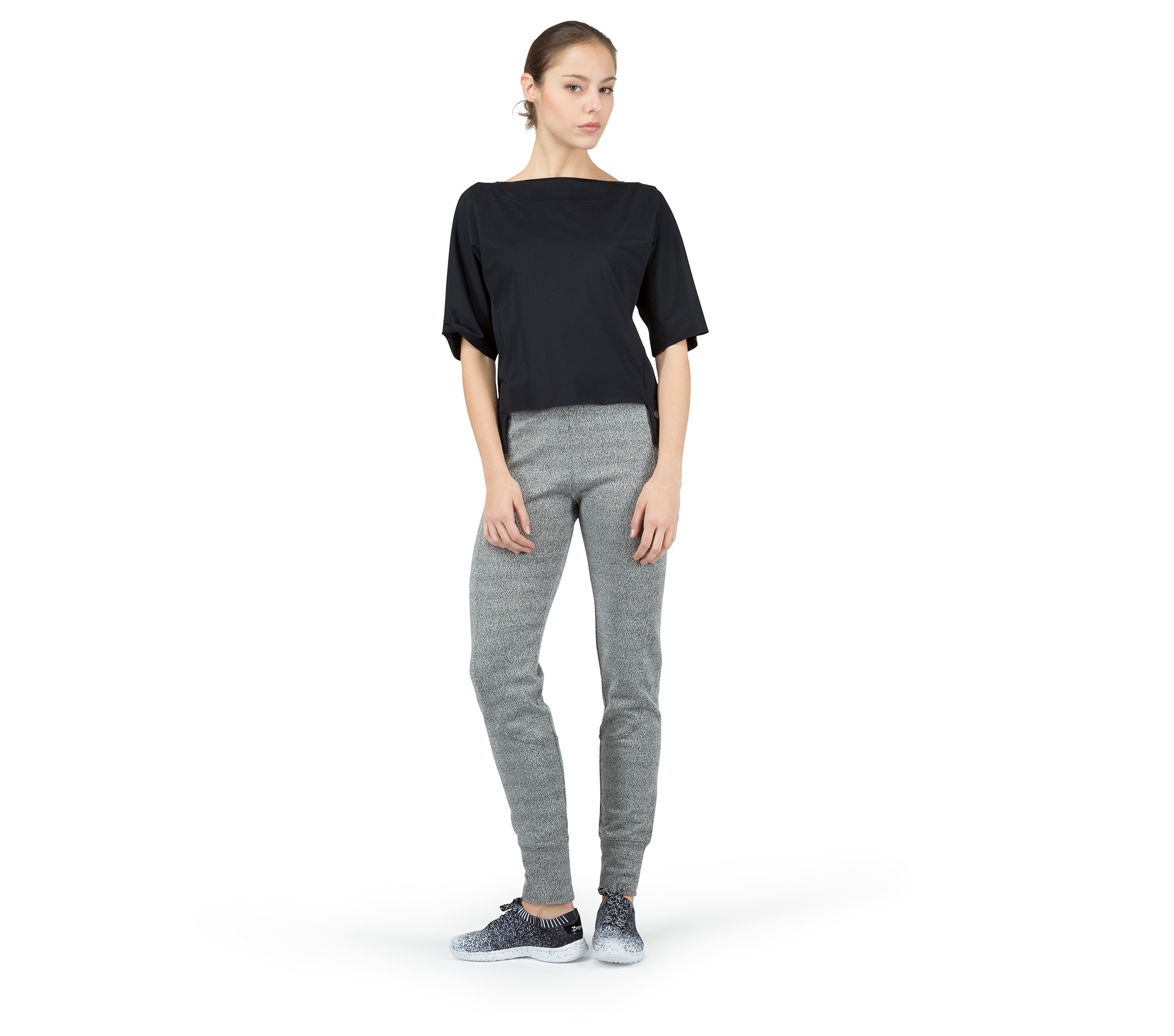 Top manches 3/4 en maille ultra stretch