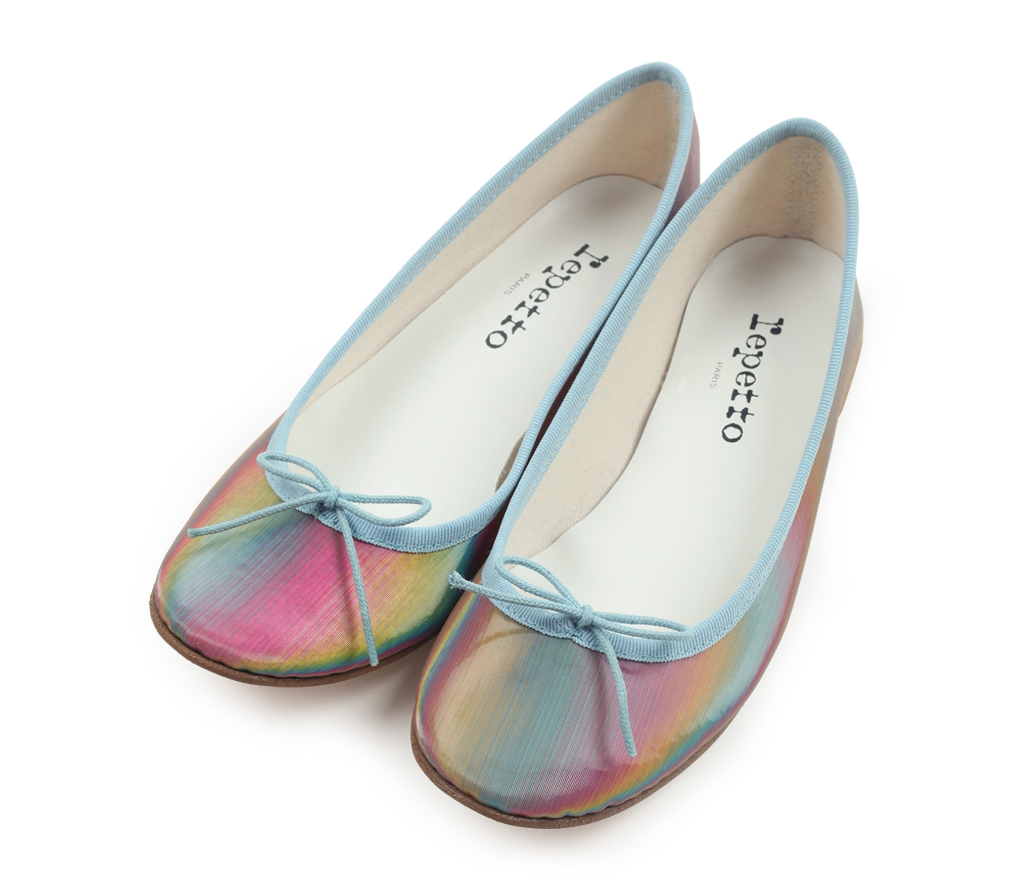 Ballerines REPETTO cuir rose 37
