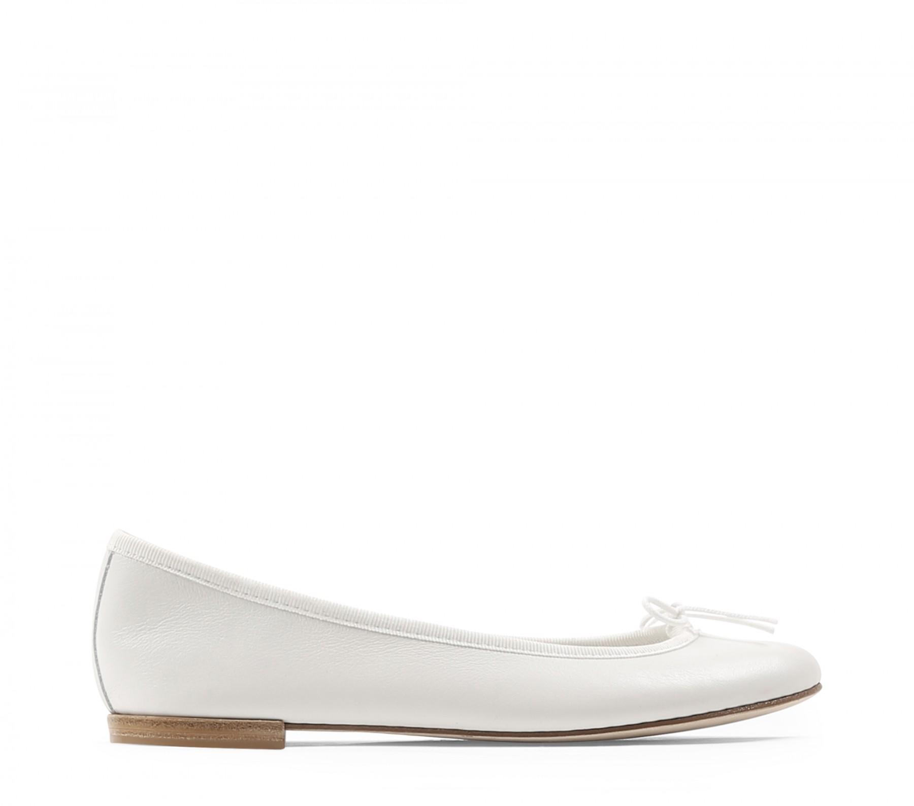 Repetto White Patent Cendrillon Ballerina Flats avk303f