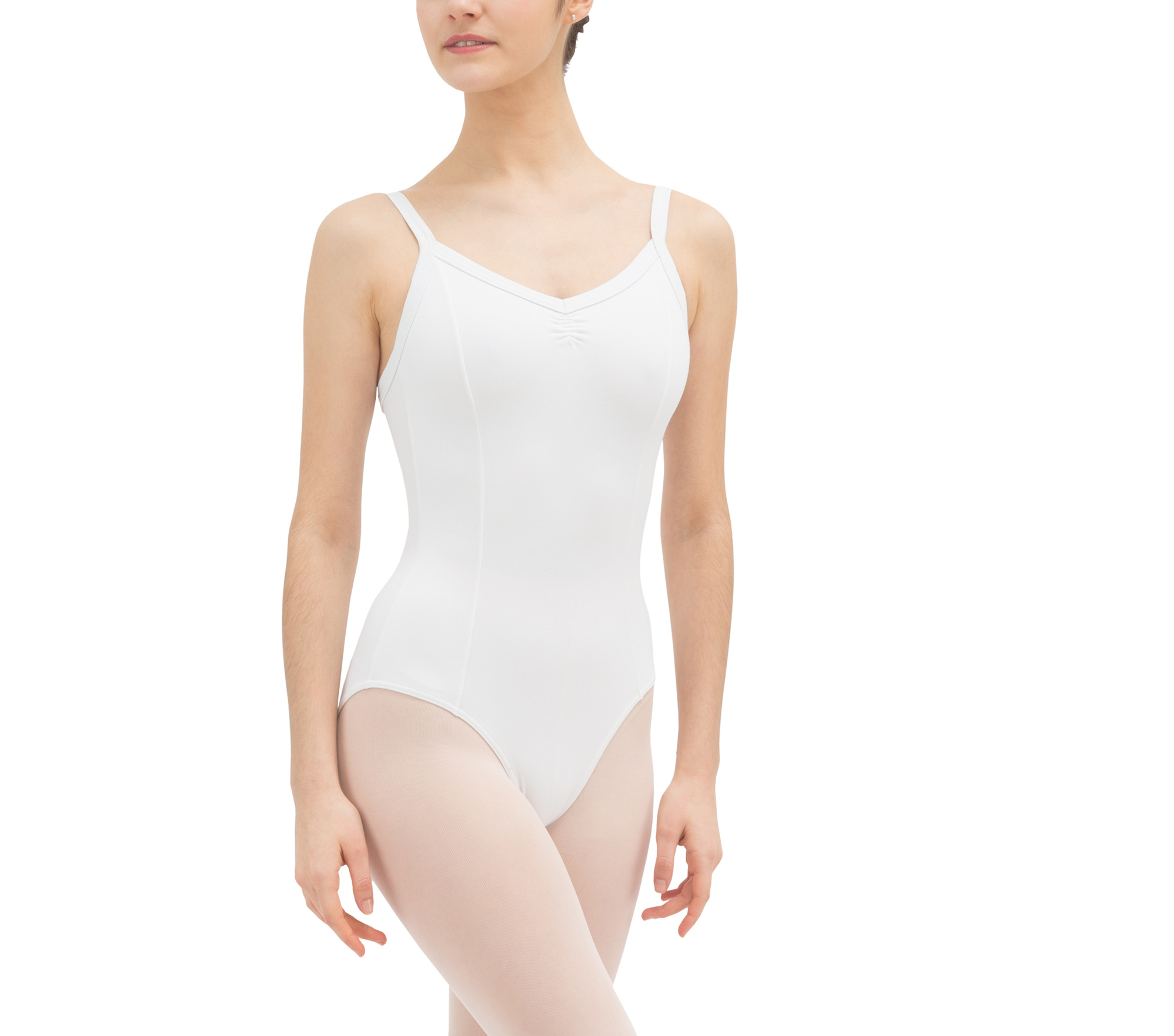 Gathered front leotard