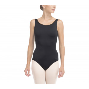 Leotard with large neckline on the back