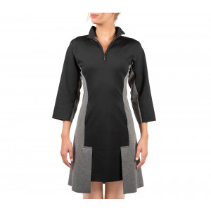 Stretch knit reversible structured dress