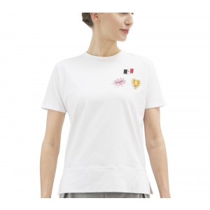 Short sleeves T-shirt in cotton with patches