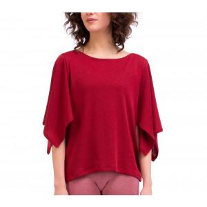 Ribbed knit kimono T-Shirt