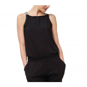 Overall in soft viscose