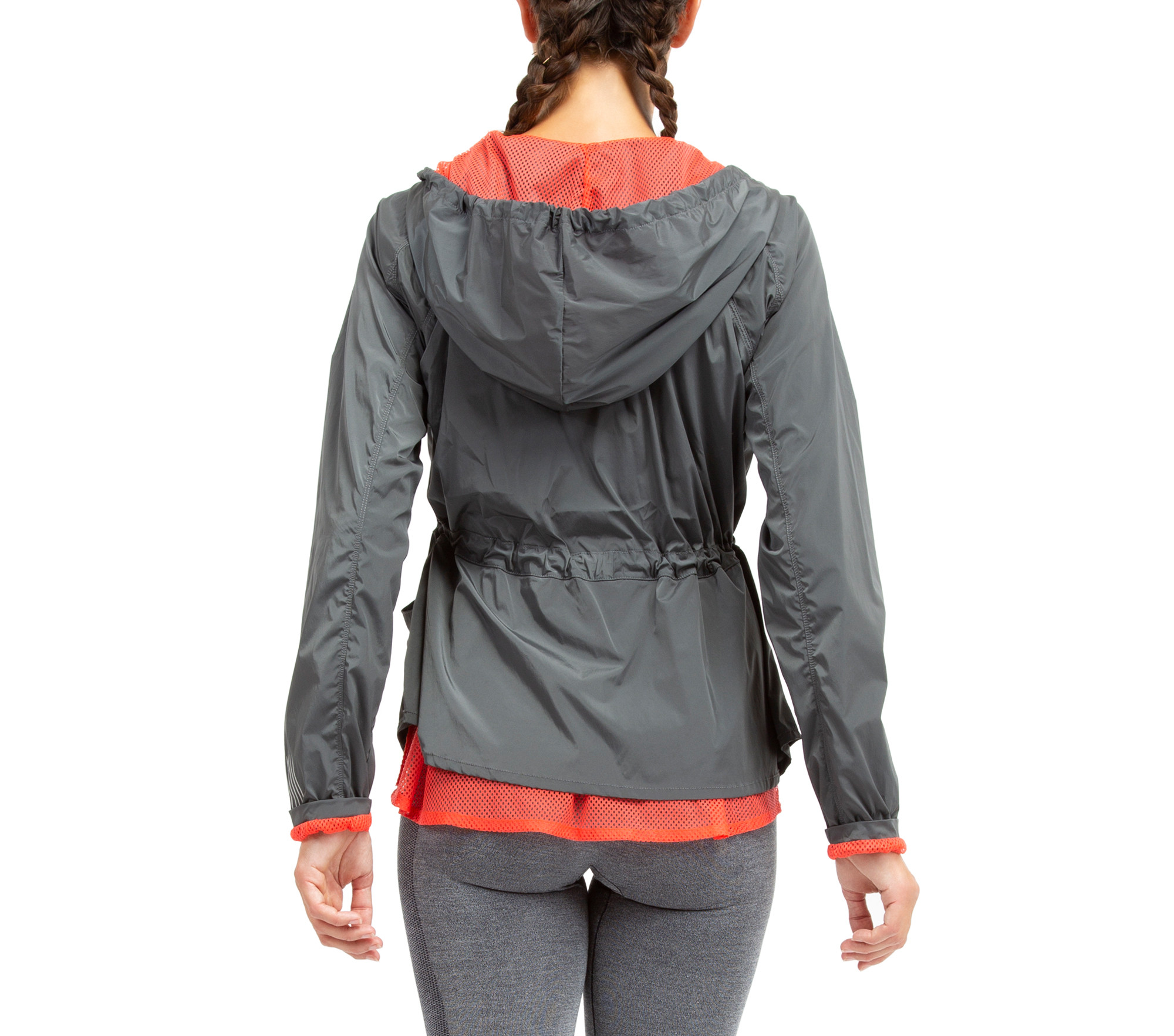 Stretch nylon technical jacket