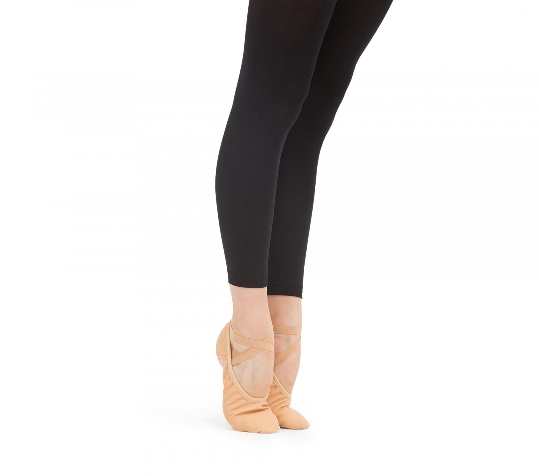 Professional soft ballet shoes with split sole (medium width