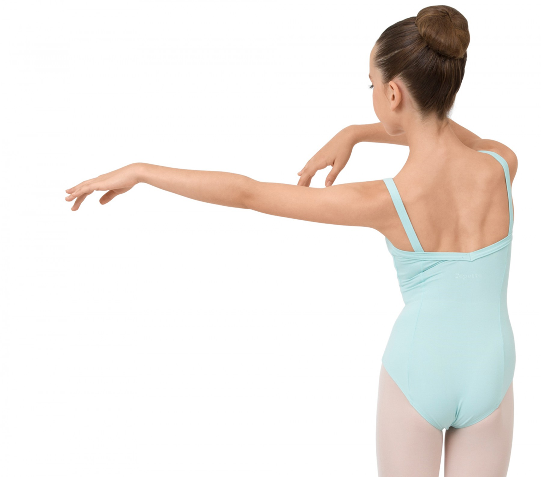 Girl gathered front leotard