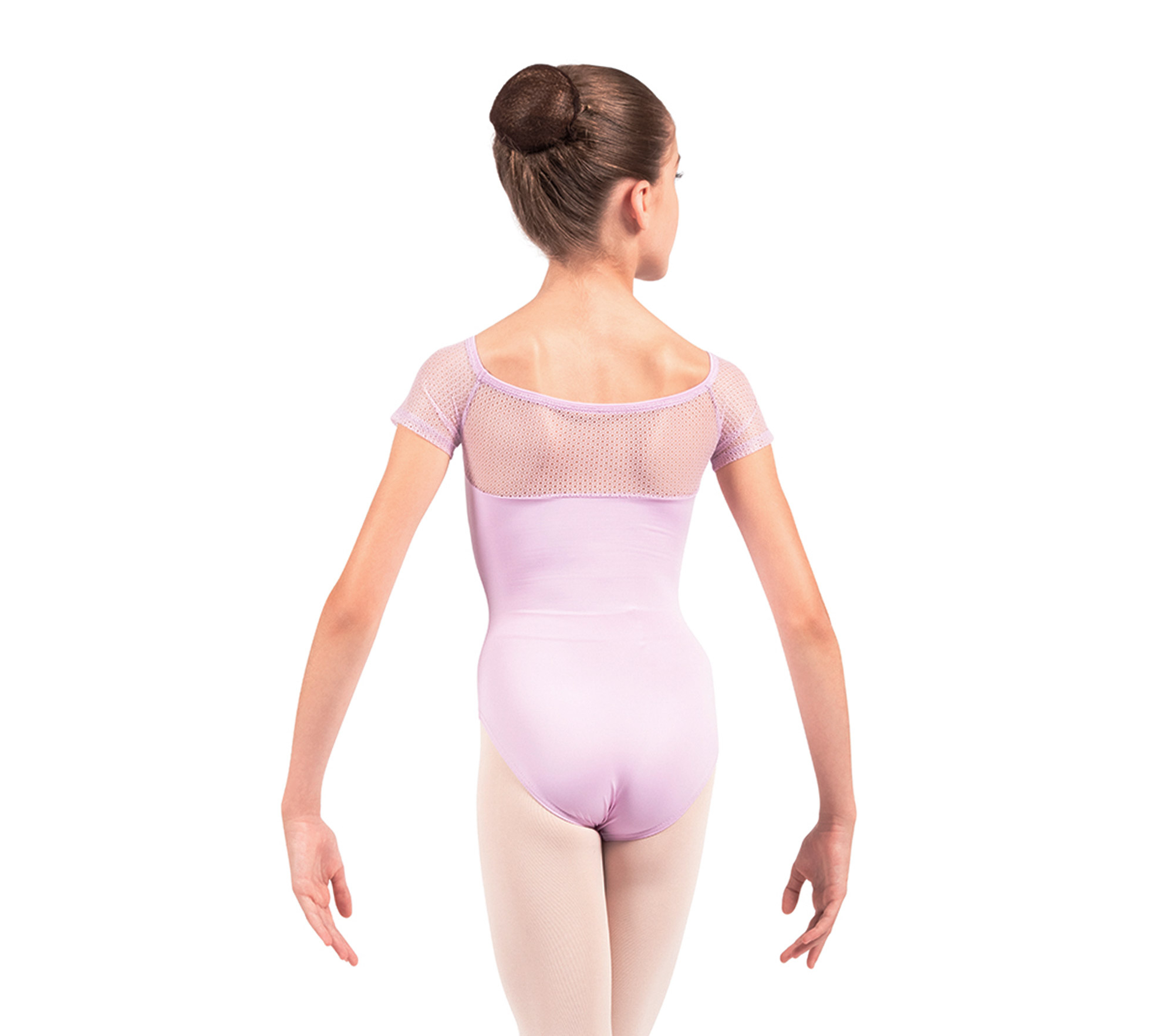 Short sleeves leotard with lace