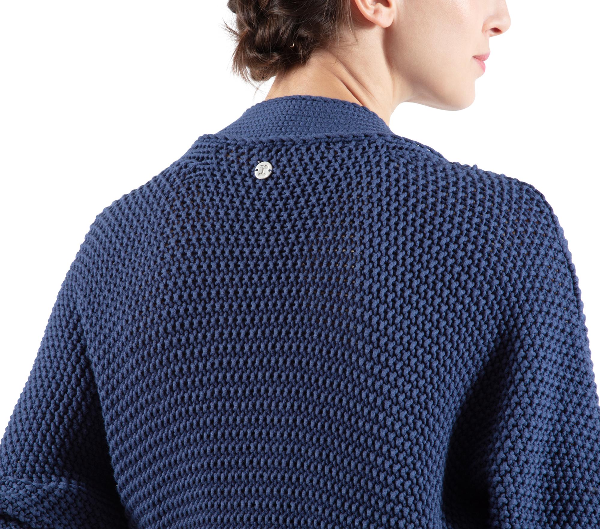 Fancy knit wrap-over