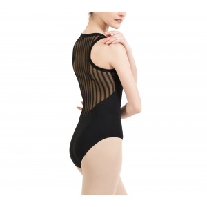 Fishnet racer back leotard