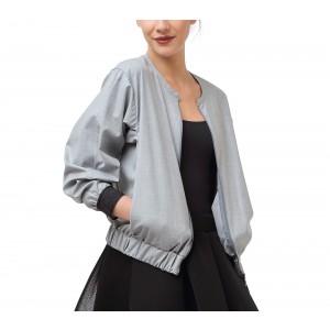 Mocked weft threads fabric jacket