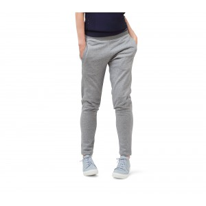 Straight warm-up pants in french terry