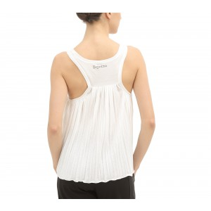 Tank top pleated in the back
