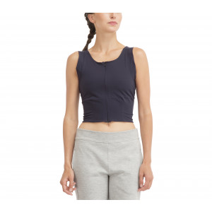 High stretch zipped top