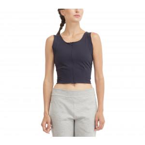 High stretch zipped top