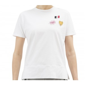 Short sleeves T-shirt in cotton with patches - Kid
