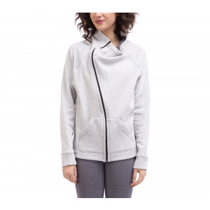 Brushed cotton zipped jacket with soft lining