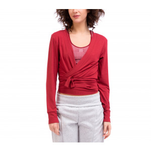 Viscose cross-over top with tie
