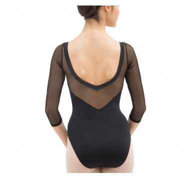 3/4 sleeved leotard with lace