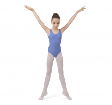 Girl large straps leotard