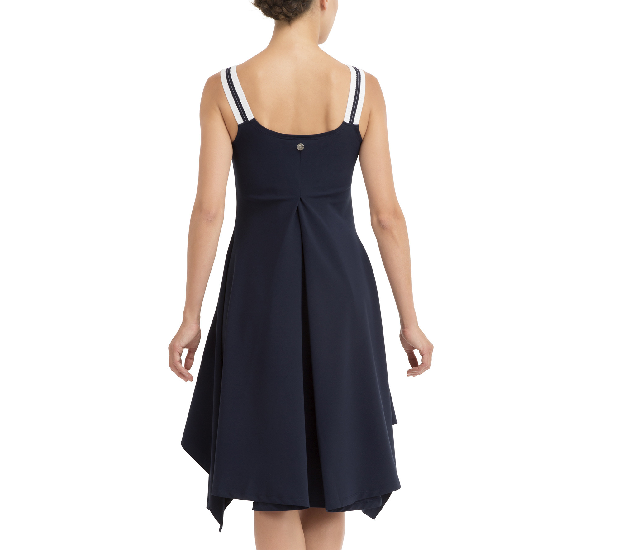 Asymmetrical technical dress