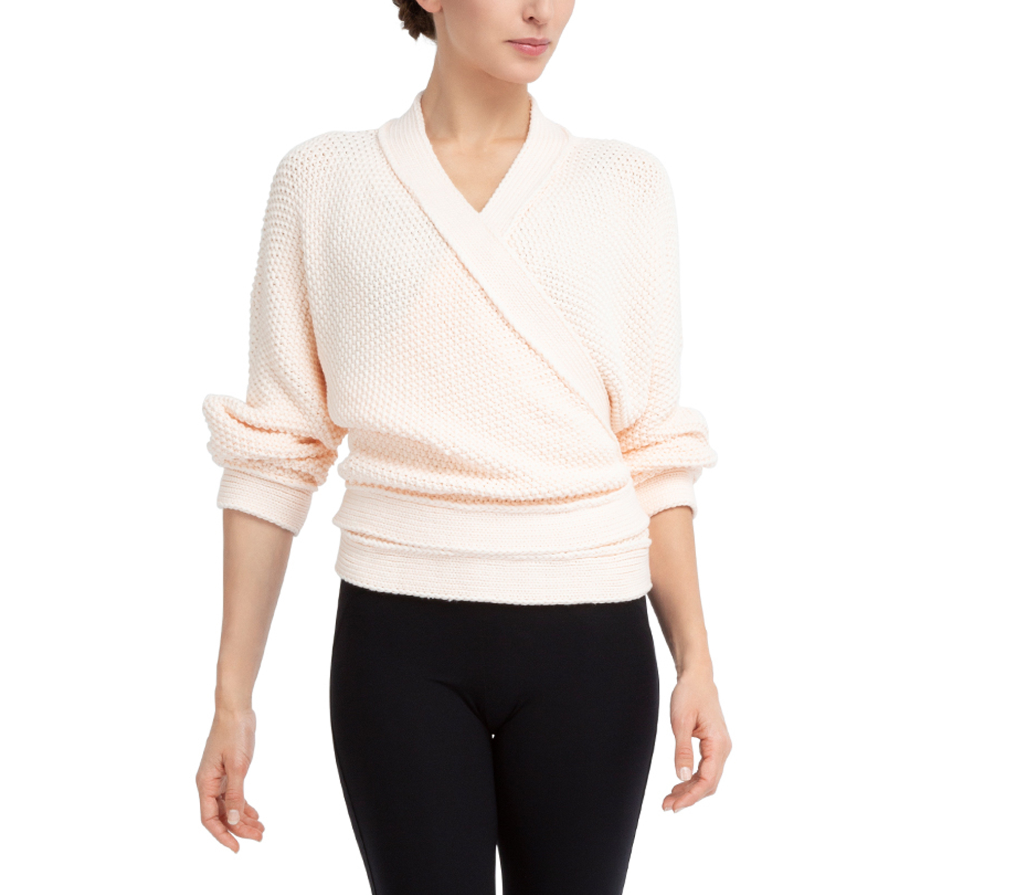 Fancy Knit Wrap Over by Repetto Paris