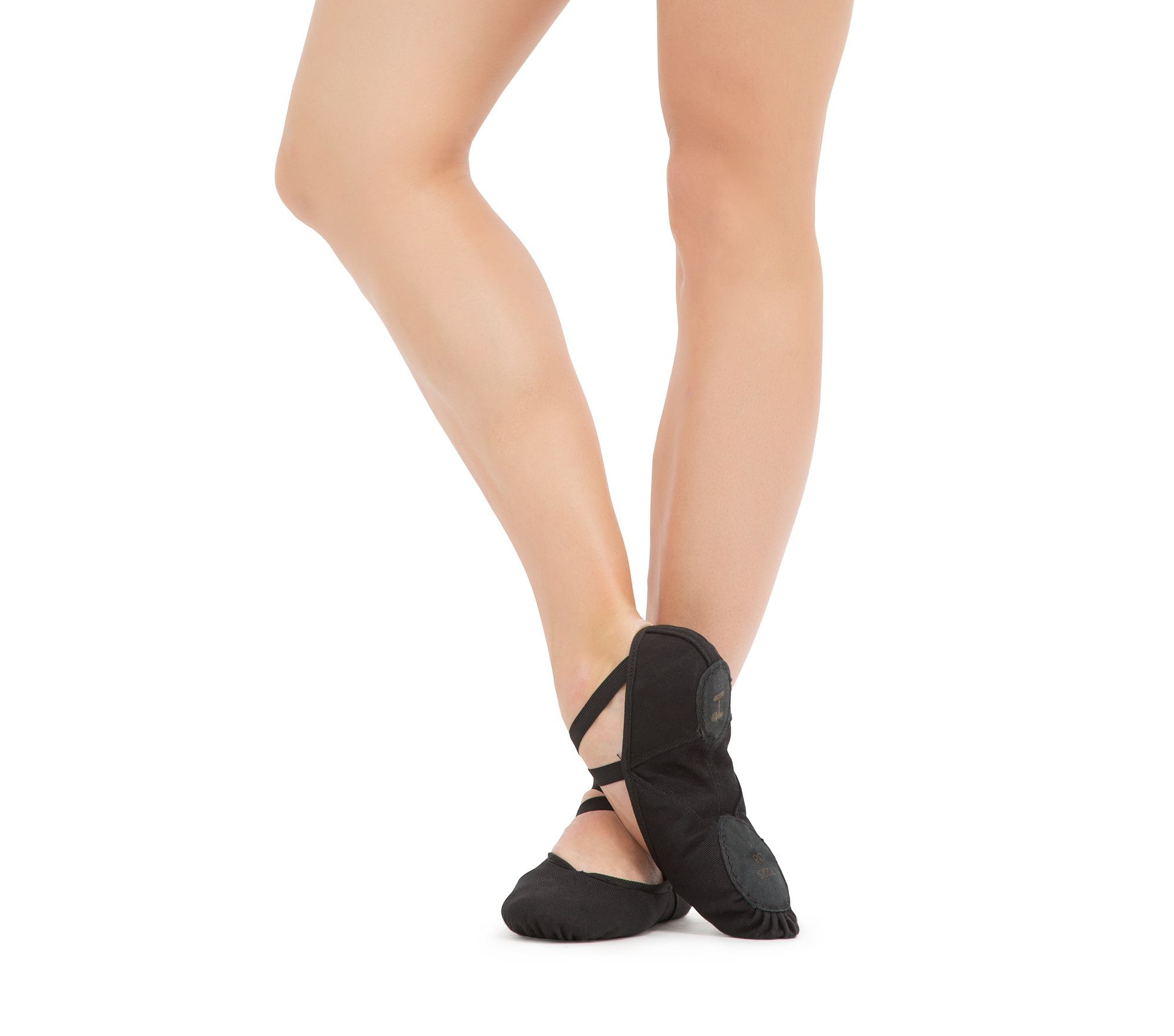 Soft ballet shoes with split sole