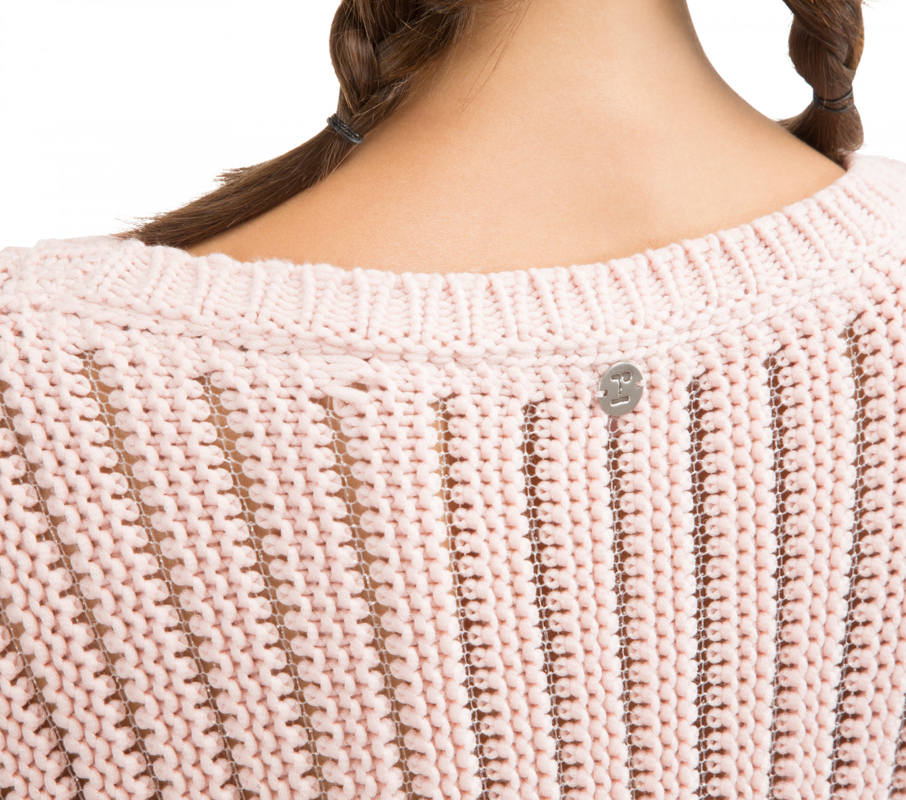 Fancy 3D knit sweater