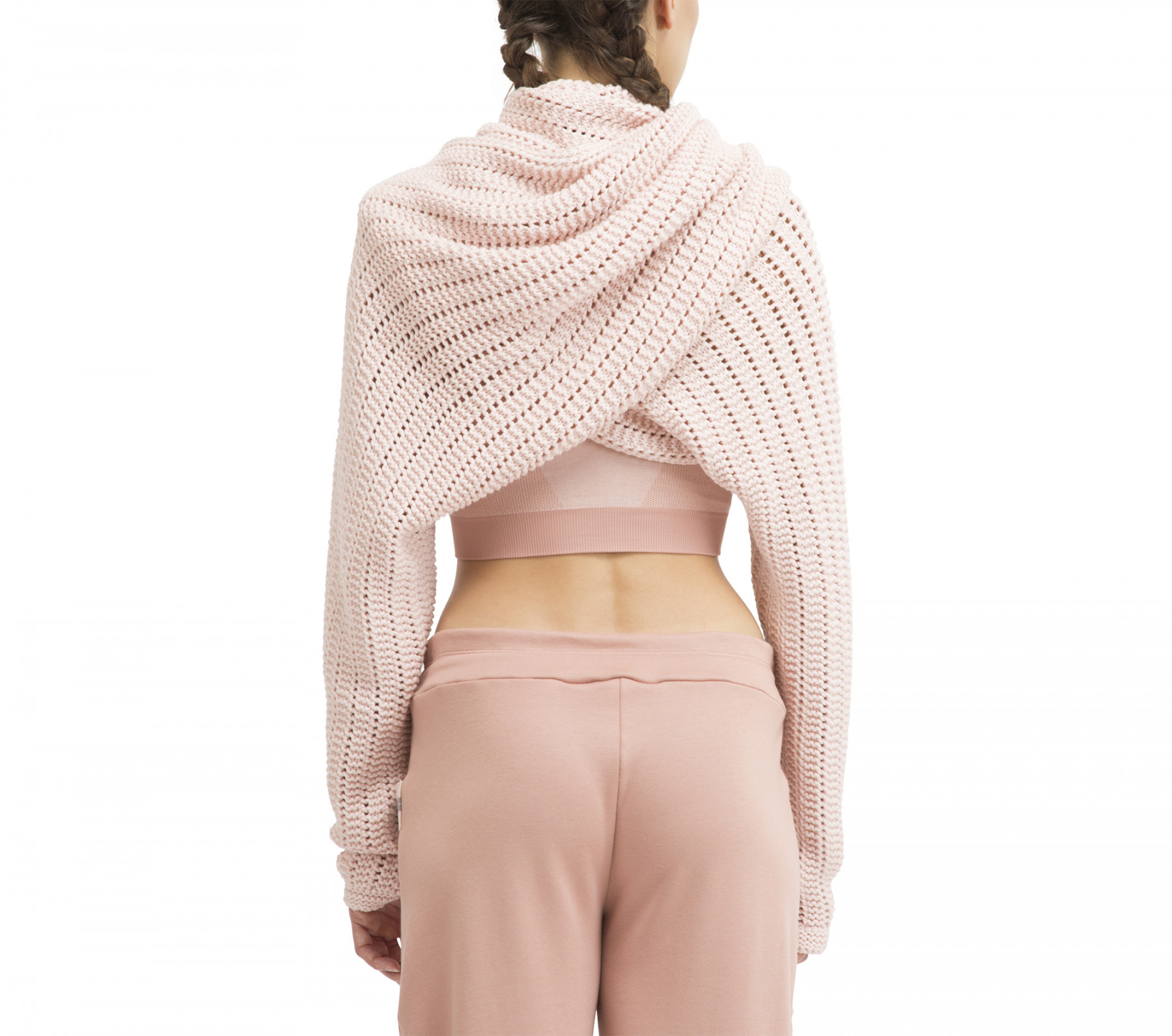 3D knitted shoulder warmer