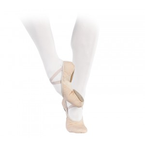 Professional soft ballet shoes with split sole (narrow width