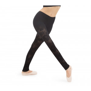Lace legging in rosette lace