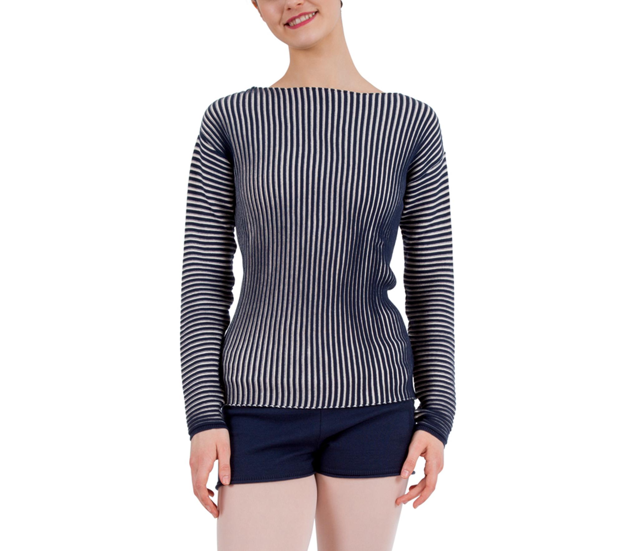 Bicolor rib-knit jumper