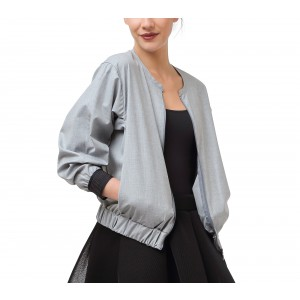 Mocked weft threads fabric jacket