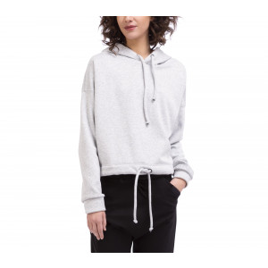 Reversible brushed cotton sweatshirt with soft lining