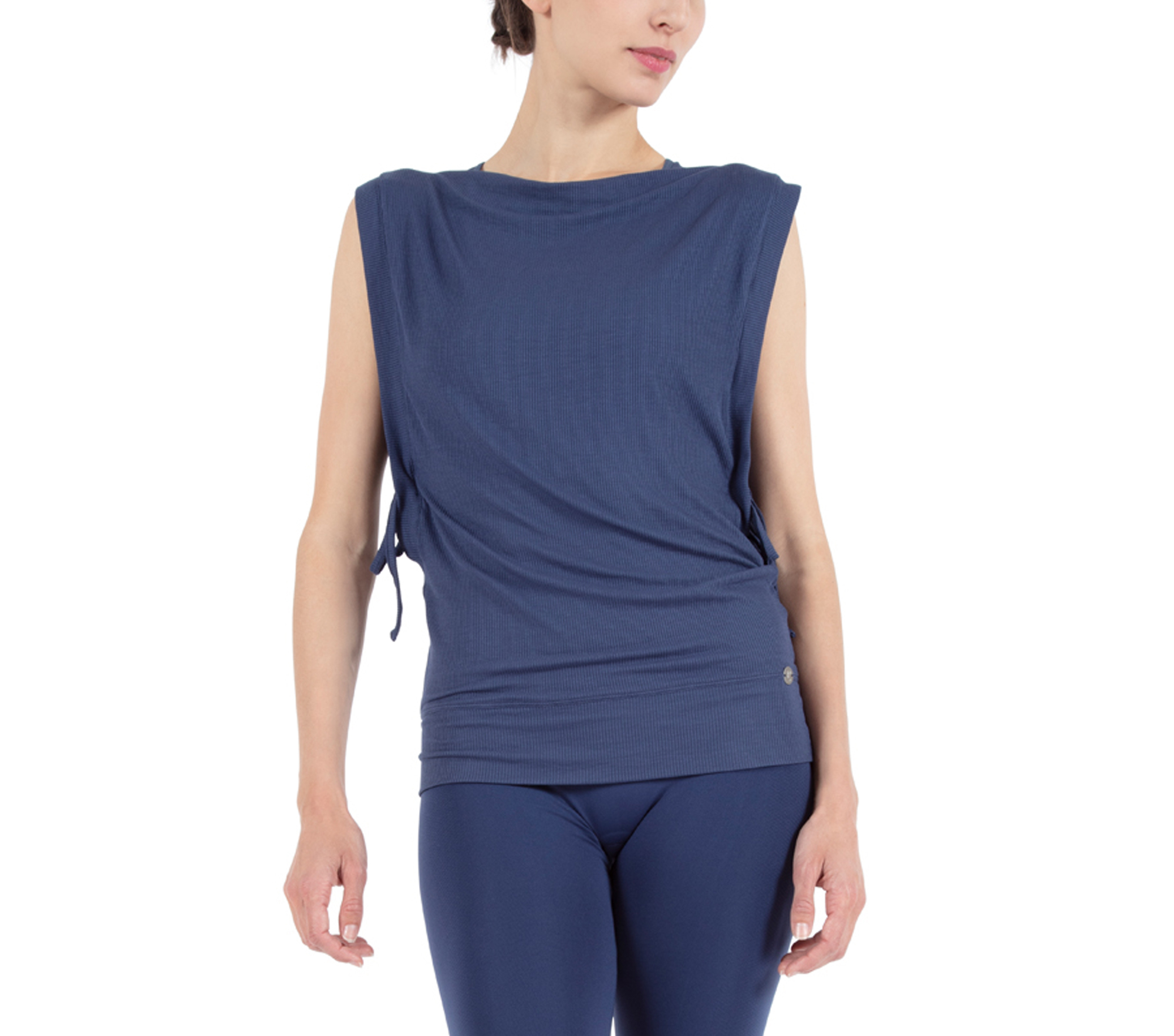 Tank top with side ties