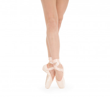 La Carlotta Pointe shoes - Medium box Medium sole - Salmon melon