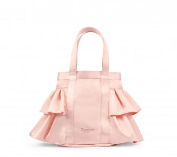 Handbag with flounces