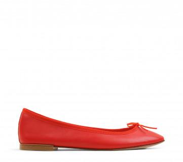 Cendrillon ballerinas - Hibiscus red