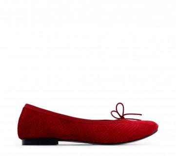 High Cendrillon ballerinas - Flammy red