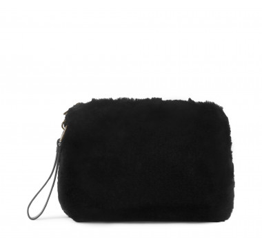 Zipped clutch bag