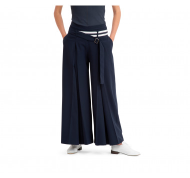 Technical fabric wide pants