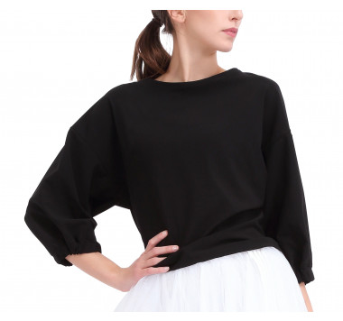 Pleated back sweater